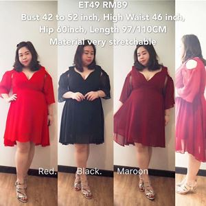 ET49 *Ready stock *Bust 42 to 52inch/107-132cm