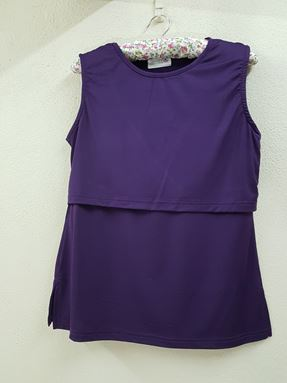 Sleeveless Nursing Inner (Deep Purple) Size Big Only