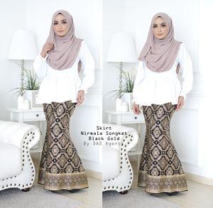 Skirt Songket Nirmala Black Gold