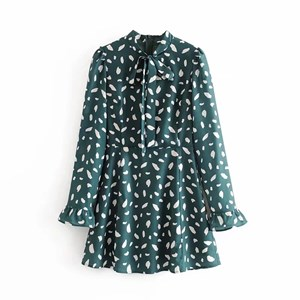 EMERALD GREEN ABSTRACT PRINTED TUNIC
