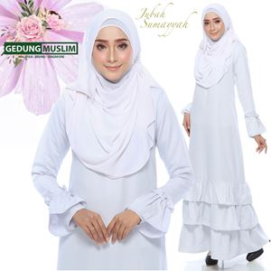 JUBAH SUMAYYAH - WHITE  COLOR