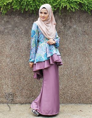 PEPLUM ROSALINDA - BLUE PURPLE
