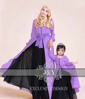 J068 PRINCESS DRESS SET PURPLE
