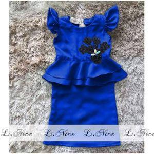 @  L.NICE PEPLUM KURUNG ( BLUE )   SZ 10Y - 12Y