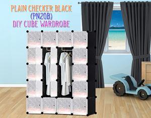 Plain Black 20Cube Diy Wardrobe (PN20B)
