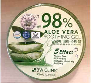 3W CLINIC 98% Aloe Vera Soothing Gel 300g