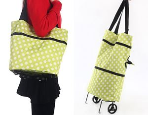 PORTABLE 2 IN 1 TROLLEY SHOPPING BAG