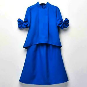 DE'CAMEELA BOW MODERN KURUNG (ROYAL BLUE)