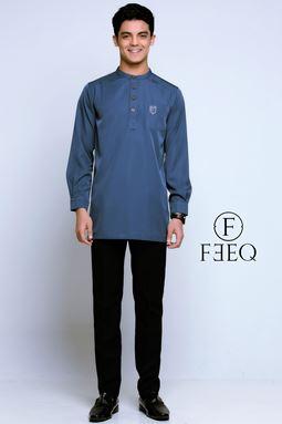 KURTA FEEQ (GREYISH BLUE)