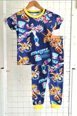 BABY 6M - 24M Pyjamas TRANSFORMER BLUE :  (HELAL)