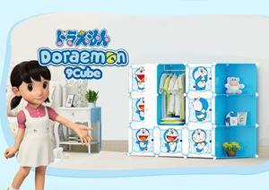 Doraemon 9C DIY WARDROBE w CORNER RACK (DR9CB)