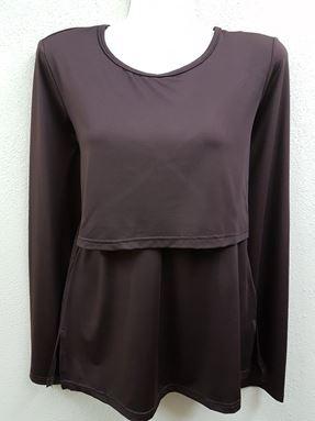 Long Sleeve Nursing Inner (Dark Brown)