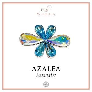 Brooch Azalea Aquamarine