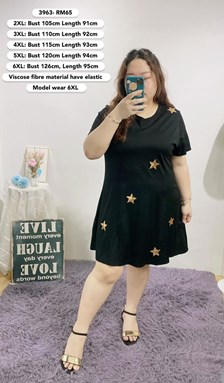 3963   *Ready Stock *Bust 39 to 50 inch/ 100-126cm
