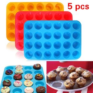 24 Mini Muffin Silicone Mold (5 pcs)