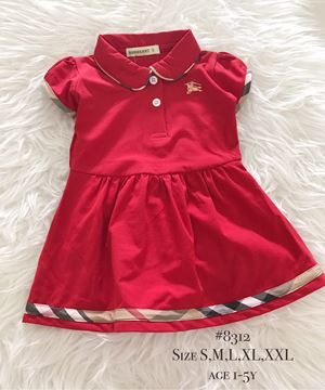 Burberry Dress (Red) Age 1-5y