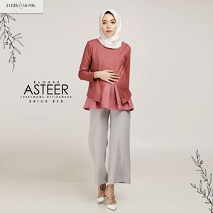 Asteer Blouse - Brick Red
