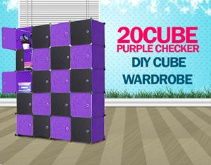 PLAIN CHECKER BLACKPURPLE 20C DIY CUBE (BP20)