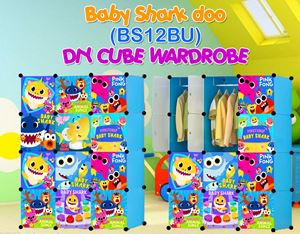 Baby Shark Doo BLUE 12C DIY WARDROBE (BS12BU)