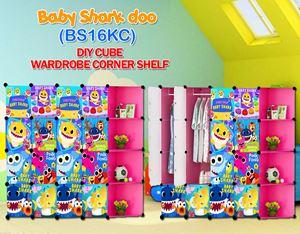 Baby Shark Doo PINK 16C DIY WARDROBE w CORNER RACK (BS16KC)