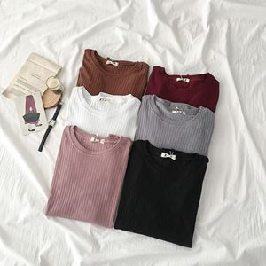 Korean Basic Round Neck Shirt