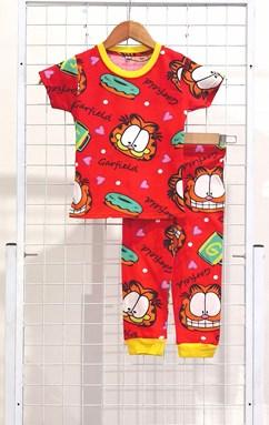 SIZE 2  KIDS Pyjamas GARFIELD LOVE DONUT RED (GL)