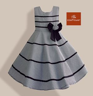 @  WS-ZF201524-004 ZOE FLOWER DRESS ( Size 6-10y )
