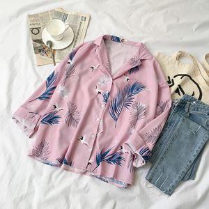 Korean Tropical Printed Shirt