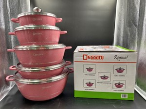 DESSINI 10PCS DIE CAST SET GLASS -  PINK