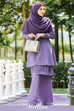 MELLINA STYLISH KURUNG 💕 (Fabulous Purple)