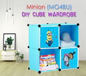 Minion  DIY 4C Cube Wardrobe (MO4BU)
