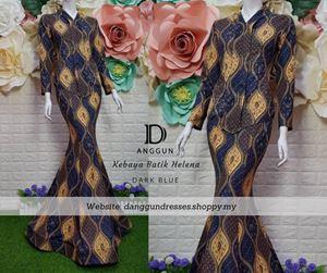 Kebaya Batik Helena Dark Blue