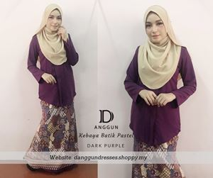 Kebaya Pastel Luna Dark Purple