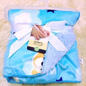 CARTER'S FLUFFY BABY BLANKET BLUE COLOUR