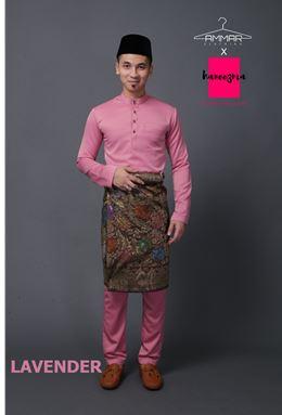 Baju Melayu Kacak - Lavender/Dusty Pink
