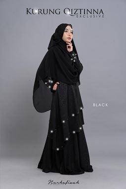 KURUNG QIZTINNA ( BLACK  )