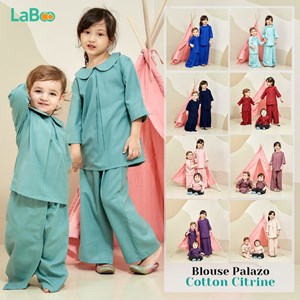 LaBoo Baju Blouse Palazo Cotton Citrine