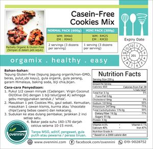 Casein-Free Cookies Mix