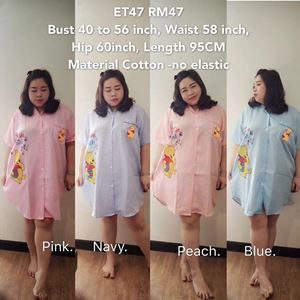 ET47 Ready Stock *Bust 40 to 56inch/102-142cm