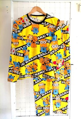 Pyjamas MINION BANANA YELLOW : Size DEWASA 2XL