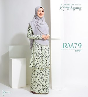 KURUNG AGUNG IRONLESS IN SWIRL