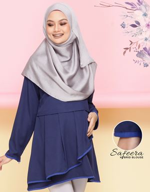 Safeera Blouse - Navy Blue(Royale Blue)