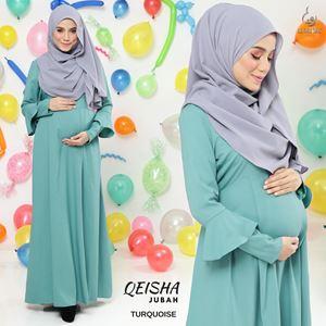 Jubah Qeisha : Turquoise