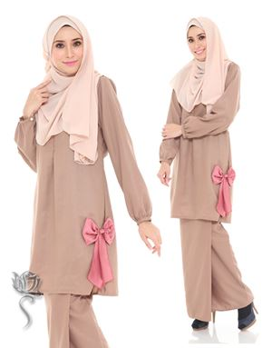 KURUNG MODEN ALYA - BROWN