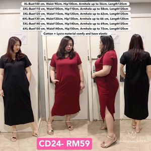 CD24 Ready Stock *Bust 39 to 59 inch/ 100-150cm