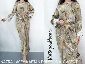 NAZRA LACEY KAFTAN DRESS