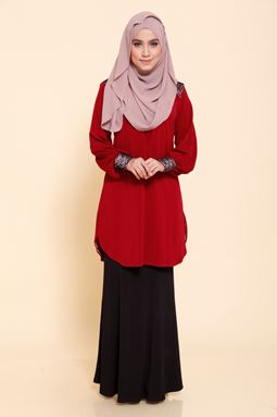 Blouse Estella (Maroon)