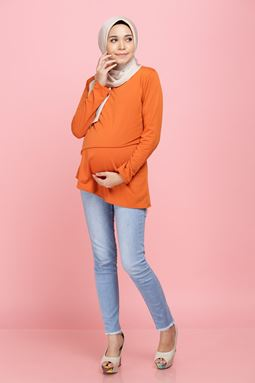 Iriss Blouse - Cayanne Orange