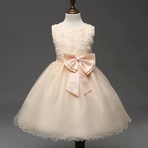 Girls Princess Dress - CHAMPAGNE  (  SZ 70-160 )