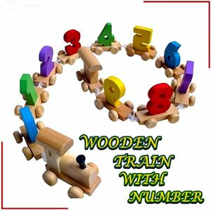 WOODEN TRAIN WITH NUMBER eta 16 oct